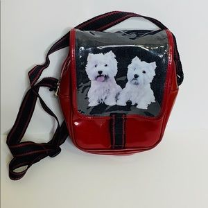 Boots | Red Mini Messenger With Two Dogs | England